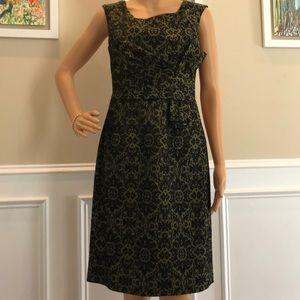 Kay Unger tapestry dress